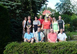 v.l.n.r.: Rikki, Gabi, Gerhard, Uschi, Yvonne, Andi - und vorne - Erwin, Alex, Gerhard, Hannes