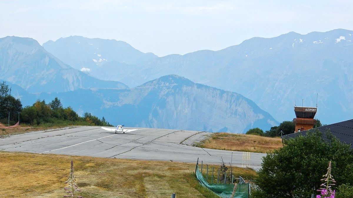 Flugplatz Alpe d'Huez