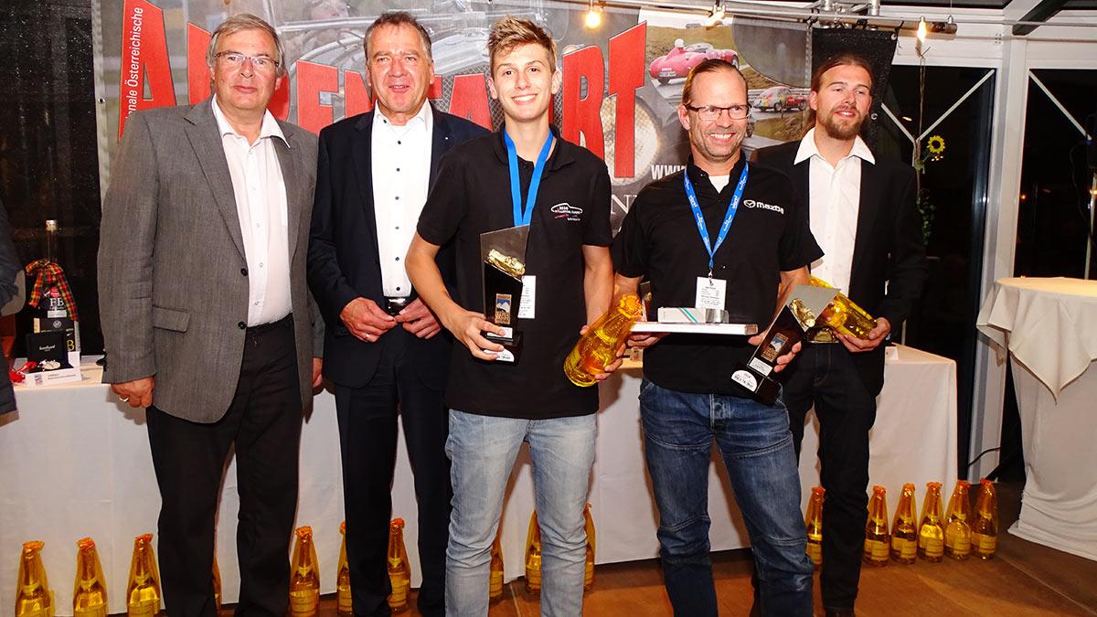 v.l.n.r. Walter Schuschnig, Matthias Krenn, Julian Pietersen, John Pietersen, Stefan Schuschnig