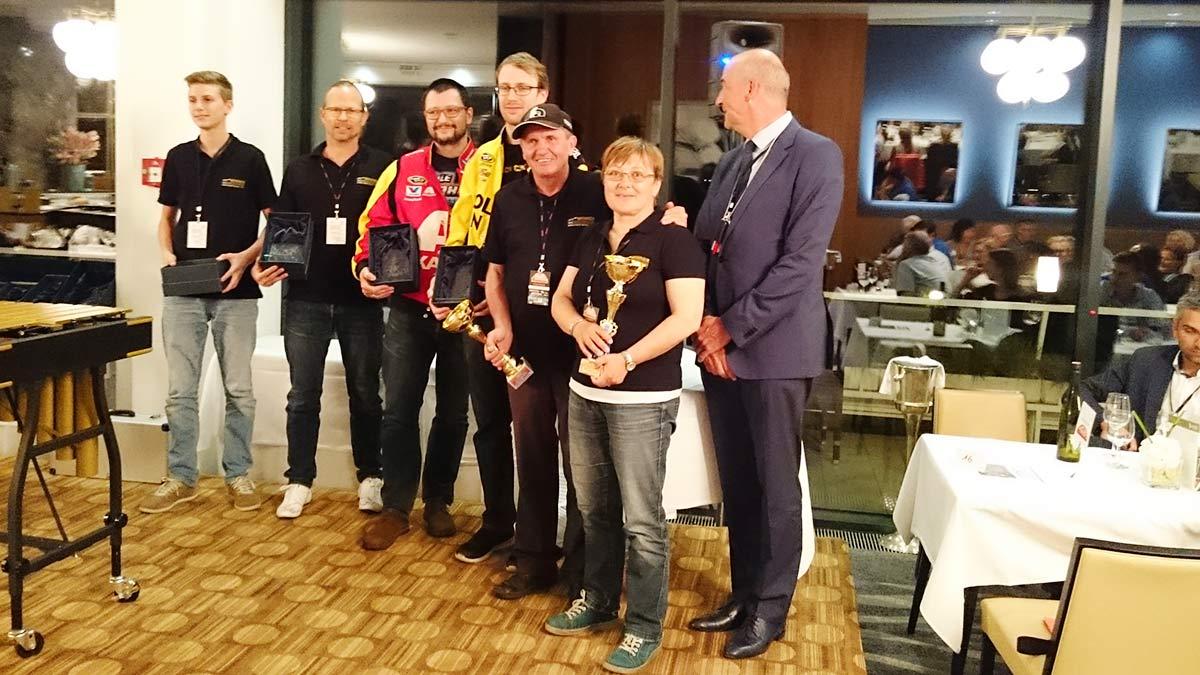 v.l.nr. Julian Pietersen, John Pietersen, Klaus Jonke, Laurenz Spross, Edi Kranabetter, Hermi Reiter, Harald Pirtscher