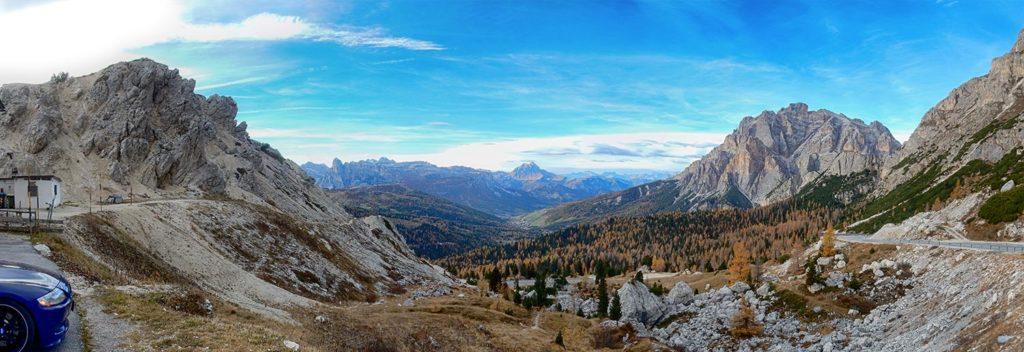 Passo Valparola - Blick nach Norden